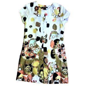Vertigo Paris cotton  silk blend shift tunic dress
